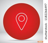 map localization icon | Shutterstock .eps vector #1182266497