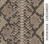 snake skin beige and brown... | Shutterstock .eps vector #1182268024