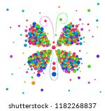 butterly idea on the white... | Shutterstock .eps vector #1182268837