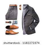 men's casual outfits for man... | Shutterstock . vector #1182272374