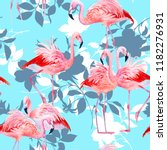 floral seamless pattern with... | Shutterstock . vector #1182276931