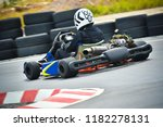 racing karting competition on a ... | Shutterstock . vector #1182278131