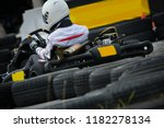 racing karting competition on a ... | Shutterstock . vector #1182278134