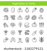 vector line icons with... | Shutterstock .eps vector #1182279121