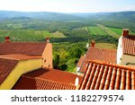 view at landscape from motovun... | Shutterstock . vector #1182279574
