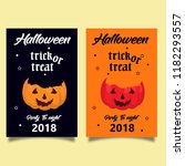invitation card halloween... | Shutterstock .eps vector #1182293557