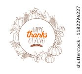happy thanksgiving day greeting ... | Shutterstock .eps vector #1182296227
