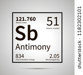 antimony chemical element with... | Shutterstock .eps vector #1182302101