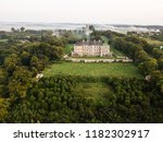 aerial top view to famous... | Shutterstock . vector #1182302917
