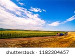 agriculture farm field road...   Shutterstock . vector #1182304657
