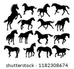 a set of horse animal detailed... | Shutterstock . vector #1182308674