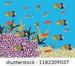 great reef australia | Shutterstock .eps vector #1182309037