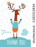 cool vector thank you  flat... | Shutterstock .eps vector #1182313834