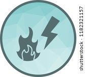 electricity fire icon   Shutterstock .eps vector #1182321157