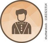 casino dealer icon | Shutterstock .eps vector #1182321514