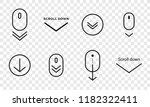 scroll down icon. vector... | Shutterstock .eps vector #1182322411