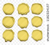 gold stamp wax seal approval... | Shutterstock .eps vector #1182324157
