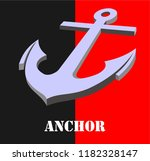anchor the ship as a marker of... | Shutterstock .eps vector #1182328147