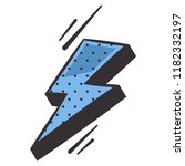 blue lightning flash comic book ... | Shutterstock .eps vector #1182332197