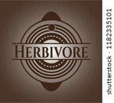 herbivore vintage wooden emblem | Shutterstock .eps vector #1182335101