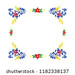 floral frame vector... | Shutterstock .eps vector #1182338137