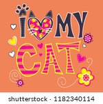 colorful texts with around...   Shutterstock . vector #1182340114