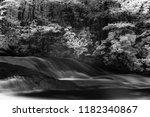 waterfall on fresh water stream ... | Shutterstock . vector #1182340867