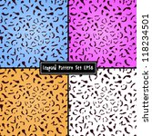 set of colorful leopard... | Shutterstock .eps vector #118234501