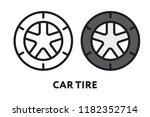 car tire wheel repair service....   Shutterstock .eps vector #1182352714