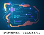 abstract circuit board... | Shutterstock .eps vector #1182355717