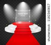 empty  stage vector design... | Shutterstock .eps vector #1182360817