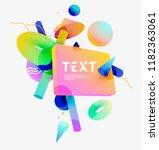 composition  of 3d  primitive... | Shutterstock .eps vector #1182363061