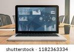 financial business laptop... | Shutterstock . vector #1182363334