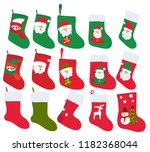 vector  isolated  set  sock for ... | Shutterstock .eps vector #1182368044