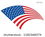 american waving flag vector usa ... | Shutterstock .eps vector #1182368374
