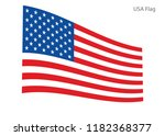 american waving flag vector usa ... | Shutterstock .eps vector #1182368377