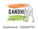 mahatma gandhi jayanti  ... | Shutterstock .eps vector #1182369757