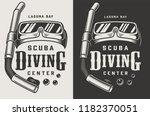 vintage diving center... | Shutterstock .eps vector #1182370051