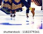 indian bride and groom's... | Shutterstock . vector #1182379261