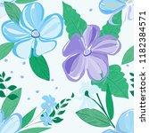 abstract flower seamless... | Shutterstock .eps vector #1182384571