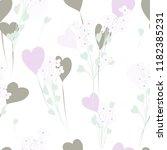 abstract flower seamless... | Shutterstock .eps vector #1182385231