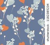 abstract flower seamless... | Shutterstock .eps vector #1182385234