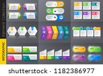 collection of infographic...   Shutterstock .eps vector #1182386977