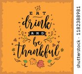 thanksgiving day. logo  text... | Shutterstock .eps vector #1182388981