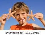 Summer Fun Child On Holiday...