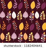autumn leaves floral template   ... | Shutterstock .eps vector #1182404641