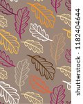autumn leaves floral template   ... | Shutterstock .eps vector #1182404644