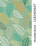 autumn leaves floral template   ... | Shutterstock .eps vector #1182404647