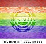 nostalgia lgbt colors emblem    Shutterstock .eps vector #1182408661