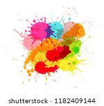 vector paint splashes.colorful... | Shutterstock .eps vector #1182409144